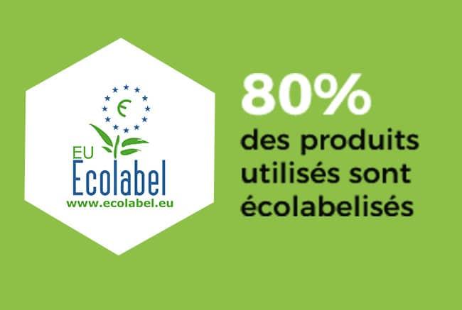 80% des produits utilisés sont écolabélisés